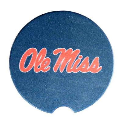 OLE MISS STONE CAR COASTER
