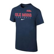 SS CORE FACILITY SIDELINE TEE NAVY