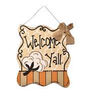 COTTON WELCOME YALL DOOR HANGER