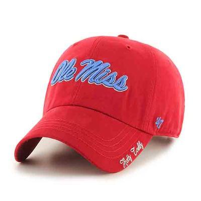 RED WOMENS SCRIPT OM CAP