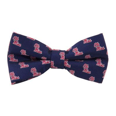 REPEAT OLE MISS BOW TIE NAVY