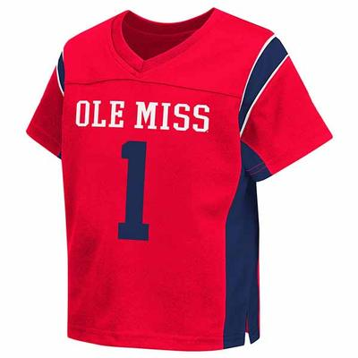 OLE MISS TODDLER NO 1 HAIL MARY FOOTBALL JERSEY