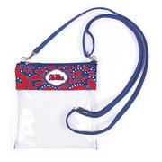 OLE MISS CLEAR CROSSBODY BAG