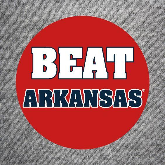 Beat Arkansas Button