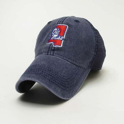 NAVY OLE MISS TRUCKER CAP
