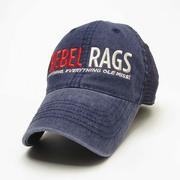 NAVY REBEL RAGS TRUCKER CAP
