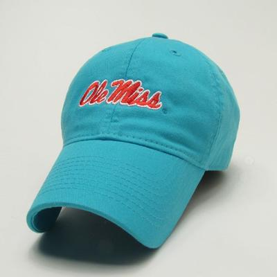Womens Aqua Blue Om Cap
