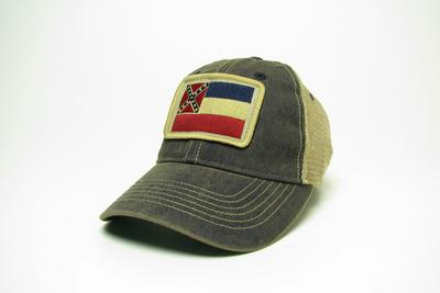 STATE OF MISSISSIPPI FLAG TRUCKER CAP