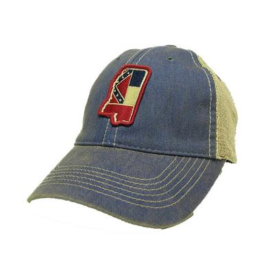 BLUE STATE OF MISSISSIPPI FLAG TRUCKER CAP