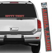 RED AND NAVY HOTTY TODDY DECAL