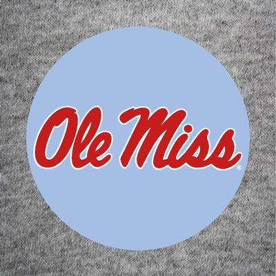 CAROLINA BLUE SCRIPT OLE MISS BUTTON