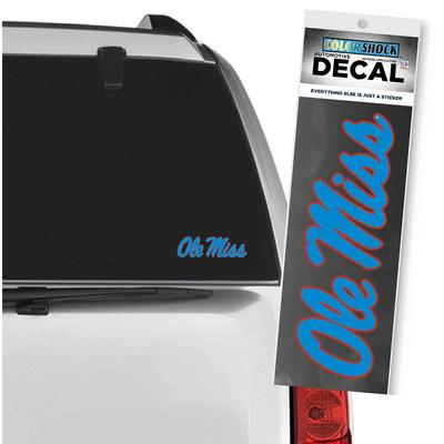 CAROLINA BLUE SCRIPT OM DECAL
