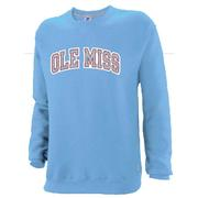 NO SEW OLE MISS FLEECE CREW