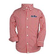 TOD LOGAN LS GINGHAM SHIRT RED