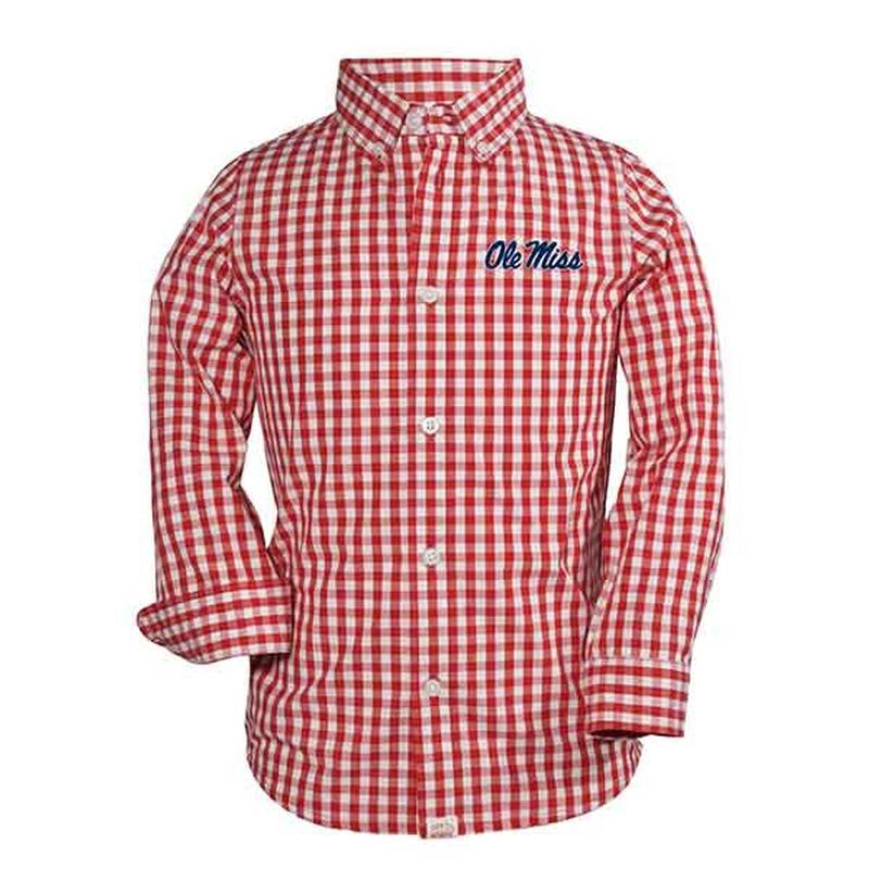 Youth Logan Ls Gingham Shirt