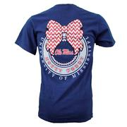 SS RIBBON BOW TEE NAVY