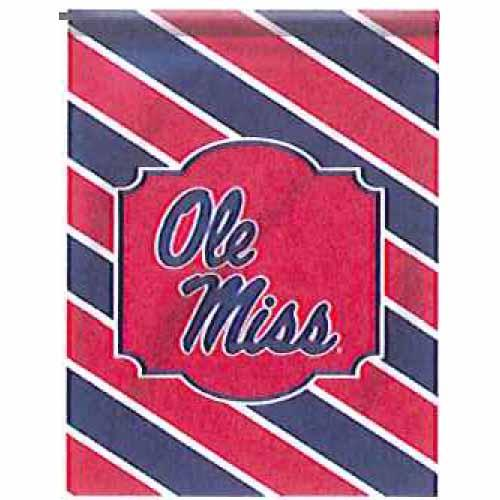 Stripes Ole Miss House Flag