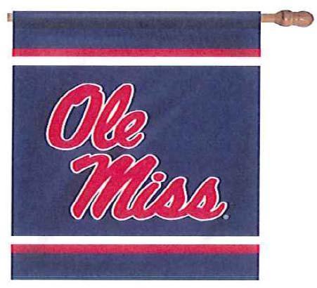 Navy Ole Miss House Flag