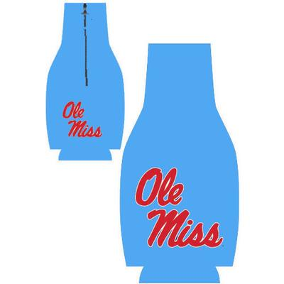 COLUMBIA BLUE OM ZIPPER COOZIE