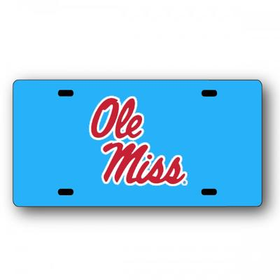 STACKED OLE MISS LICENSE PLATE