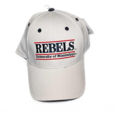WHITE GAME BAR CAP REBELS