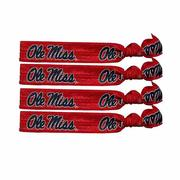 8 PK OLE MISS HAIR TIES