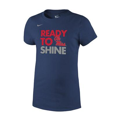 GIRLS READY TO SHINE CORE TEE NAVY