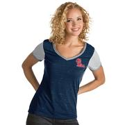 WOMENS RIVAL VNECK TEE NVYWH