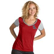 WOMENS RIVAL VNECK TEE REDWH