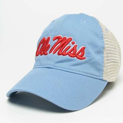 LT BLUE TRUCKER CAP