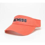 CORAL RELAXED TWILL VISOR CORAL