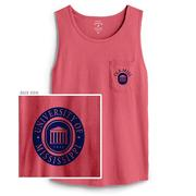 LYCEUM CAMPUS POCKET TANK GUAVA