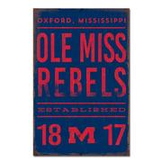 OM REBELS EST 1848 LG TIN SIGN