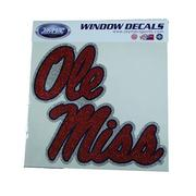 8 IN OLE MISS GLITTER DECAL