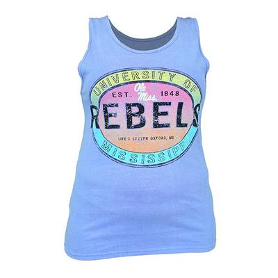 IN THE WATER REBELS TANK TOP PERIWINKLE