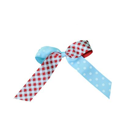 Small Amy Gingham Dot Bow