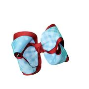 MEDIUM IZZY GINGHAM DOT BOW