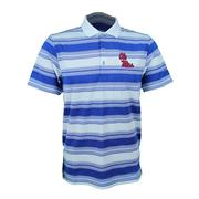 OMNIWICK LEVEL STRIPE POLO AZUL