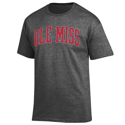 SS OLE MISS BASIC TEE SHIRT GRANITE_HEATHER