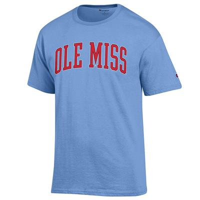 SS OLE MISS BASIC TEE SHIRT LIGHT_BLUE