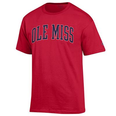 SS OLE MISS BASIC TEE SHIRT SCARLET