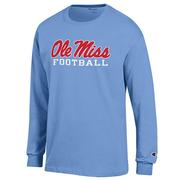 LS OLE MISS FOOTBALL TEE SHIRT