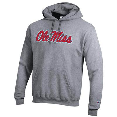 SCRIPT OM POWERBLEND FLEECE HOOD HEATHER_GREY