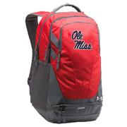 UA OM HUSTLE III BACKPACK RED