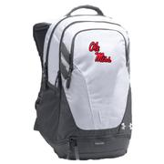 UA OM HUSTLE III BACKPACK WHITE