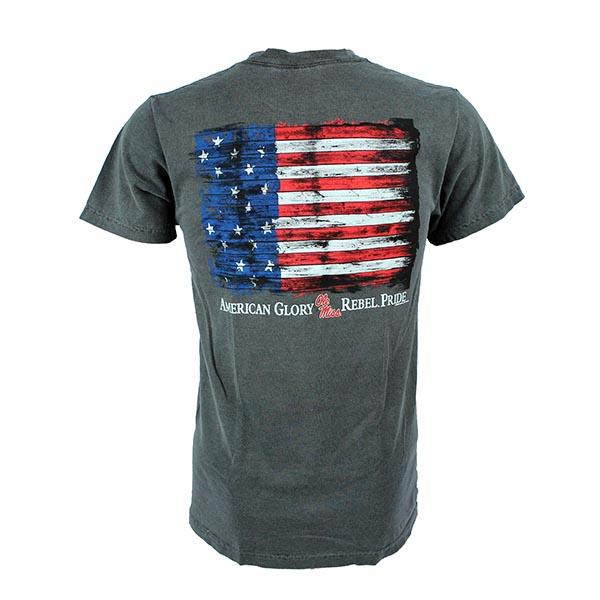 Ole Miss Flag Glory Ss Tee