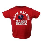 OLE MISS MEAN MACHINE SS TEE RED