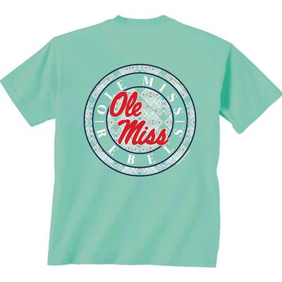OLE MISS CIRCLE PATTERN SS TEE