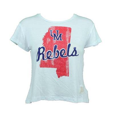 Womens Um Rebels Ms Crop Tee