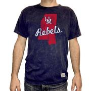 UM REBELS MS BURNOUT TEE